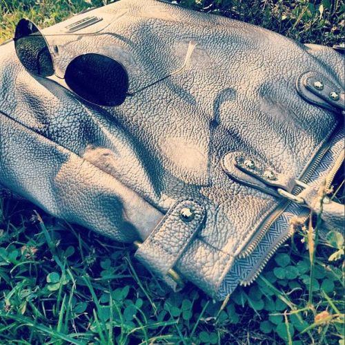 central park bag and glasses